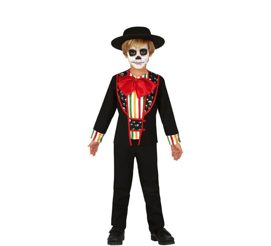 Disfraz De Esqueleto Del Día De Los Muertos Para Niño