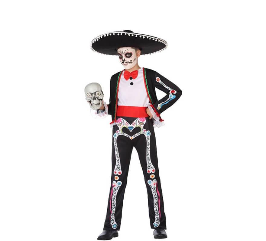Disfraz de Esqueleto Mexicano para niño 82f1f36ac38