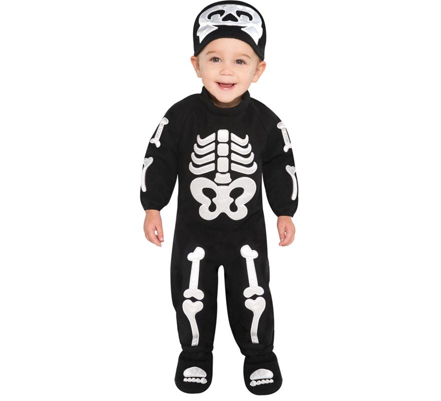 Maquillaje esqueleto bebe - Disfraz halloween bebe 1 ano ...
