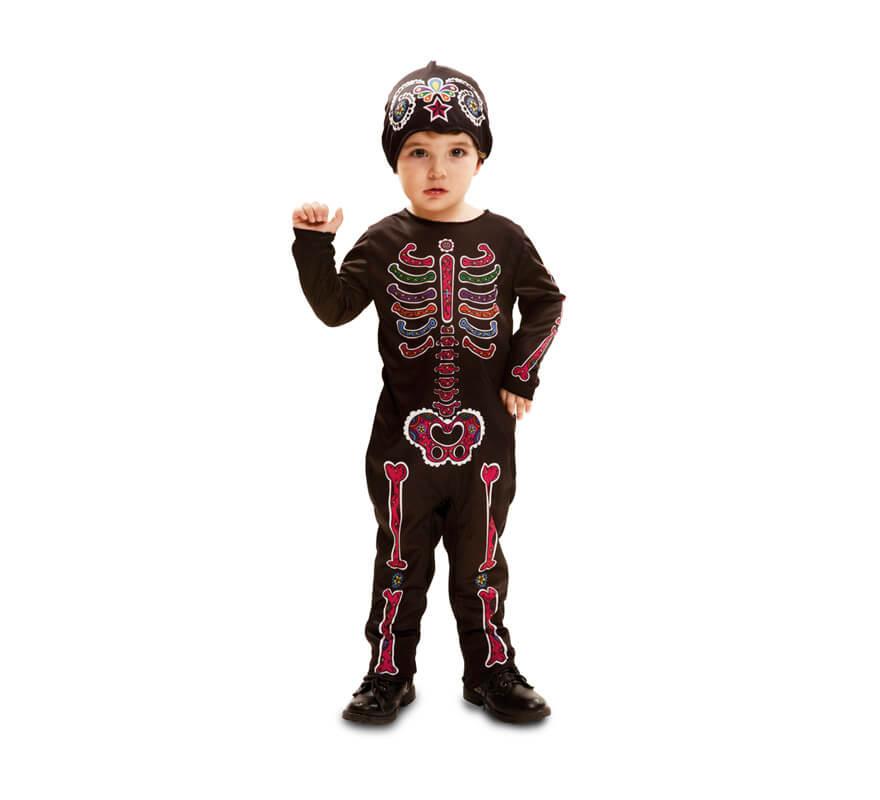 d guisement de squelette pour b b s et gar ons plusieurs tailles halloween. Black Bedroom Furniture Sets. Home Design Ideas