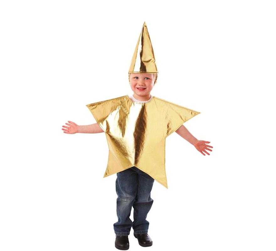 Disfraz de estrella para ni os de 3 a 5 a os para navidad - Disfraces infantiles navidad ...