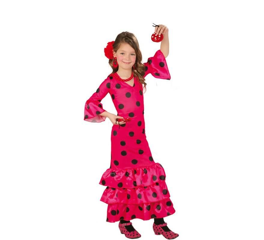 b9e19a150 Disfraz de Flamenca fucsia para niñas
