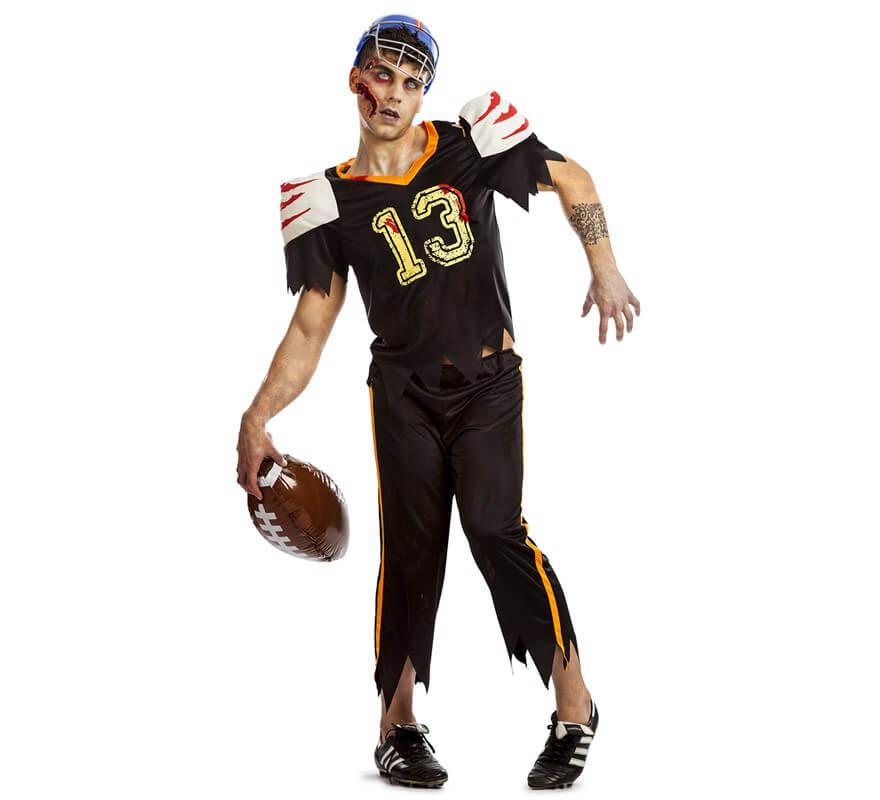 Disfraz De Futbol Americano Zombie Para Hombre
