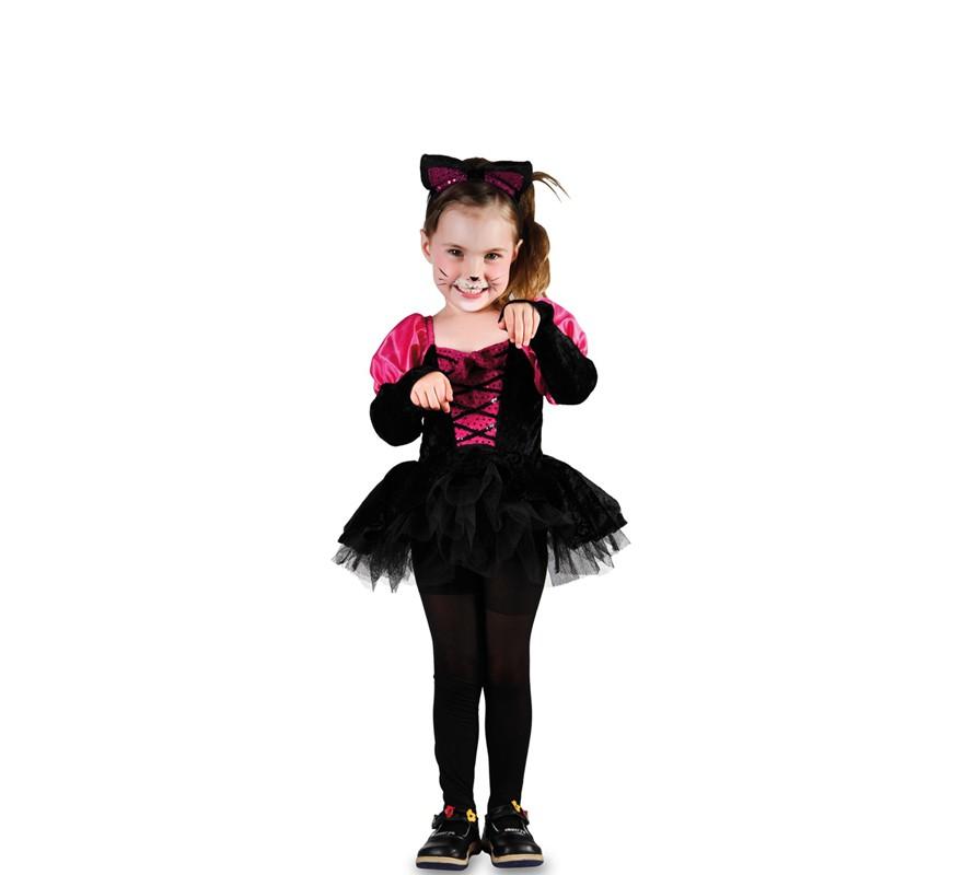 Disfraz de gatita negra y rosa para ni a - Disfraces de gatitas para nina ...