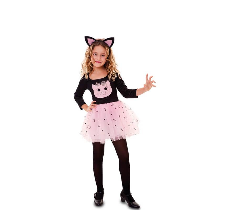 4cdc19a77 Disfraz de Gatita rosa para niña