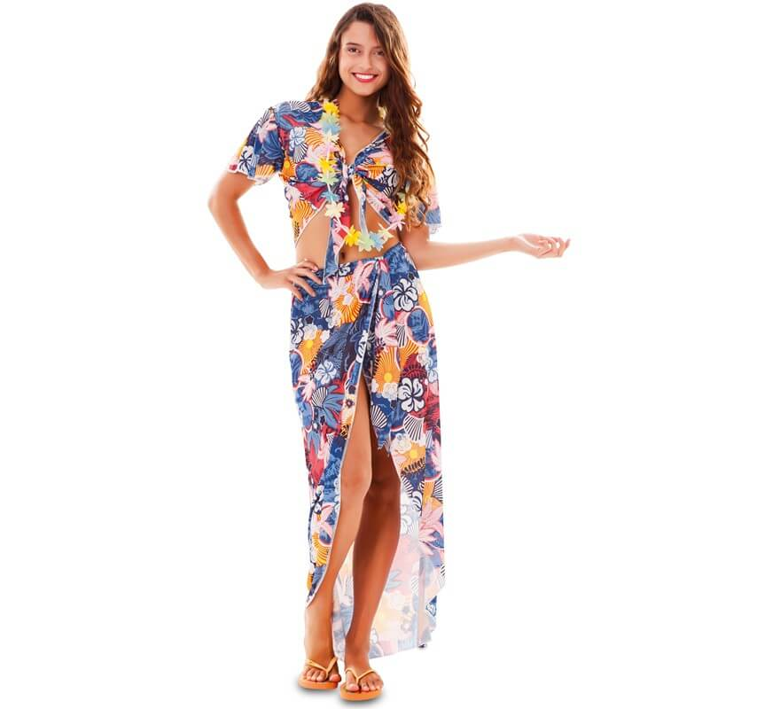 Vestido mujer fiesta hawaiana