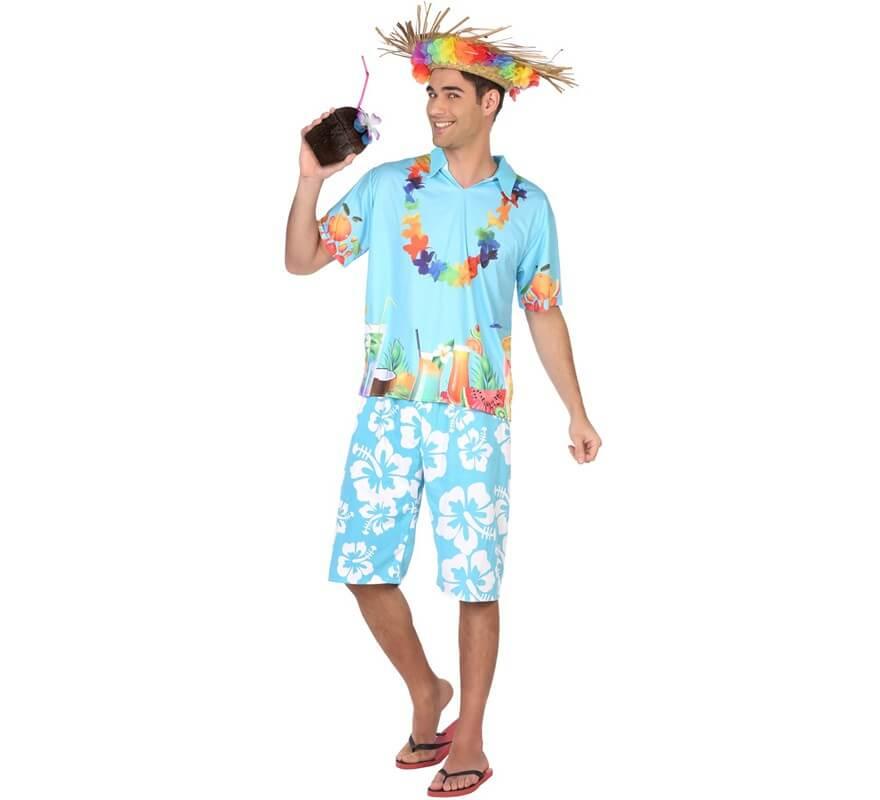 Disfraz Para De Hombre Hawaiano Azul Y2WEDH9I