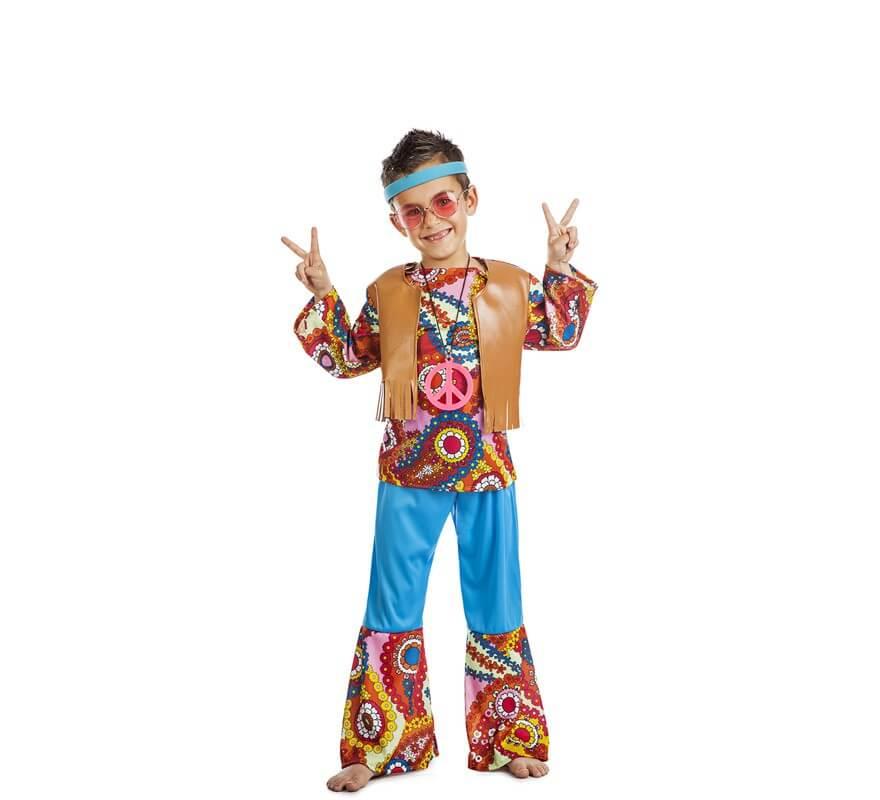 126f40e08 Disfraz de Hippie Chaleco para niño