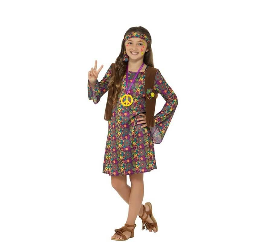 Déguisement de Hippie avec fleurs pour fille fb9728d14273