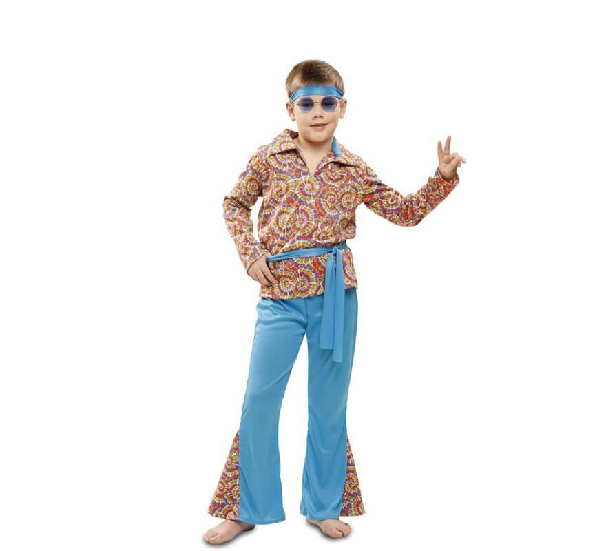ca8e0035f Disfraz de Hippie Psicodélico para niño