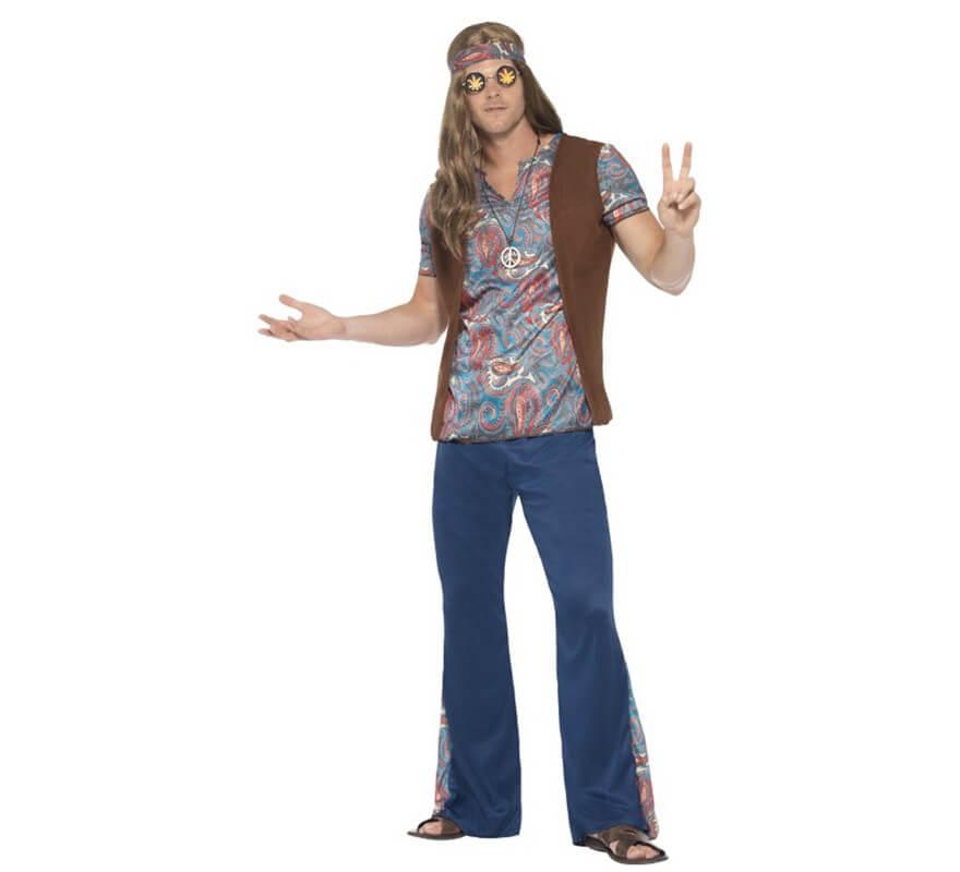 cd42c43d9 Disfraz de Hippy Multicolor para hombre