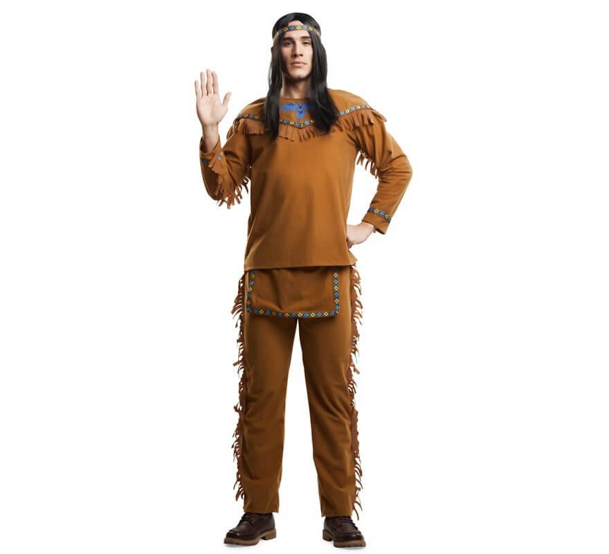 Disfraz De Indio Con Flecos Para Hombre 2300 - Hacer-disfraz-india