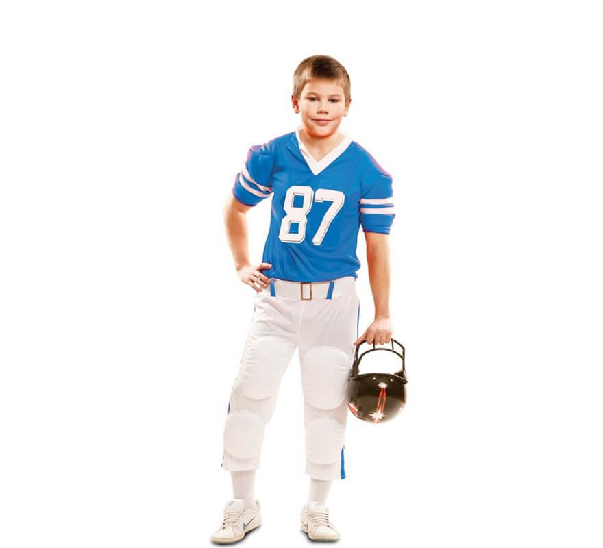 35a23387e Disfraz de Jugador de Fútbol Americano azul para niño