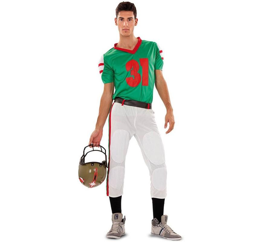 Disfraz de jugador de Fútbol Americano para hombre 21da0715f94