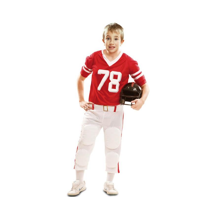 Disfraz de Jugador de Fútbol Americano rojo para niño 59672e918a324