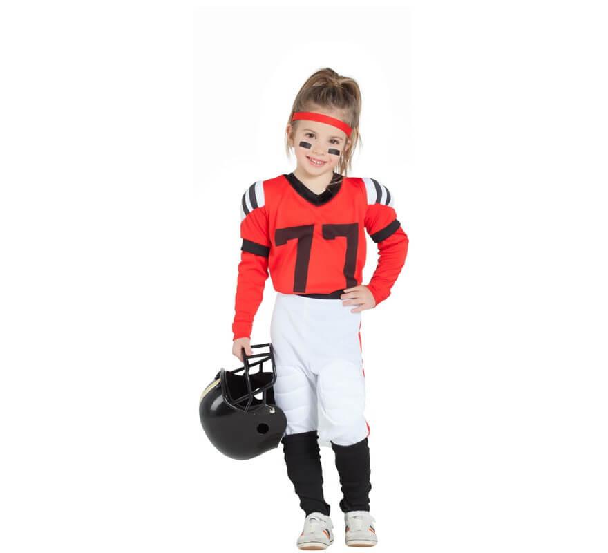 7fcc61181 Disfraz de Jugadora de Rugby Blanca y Roja para niña