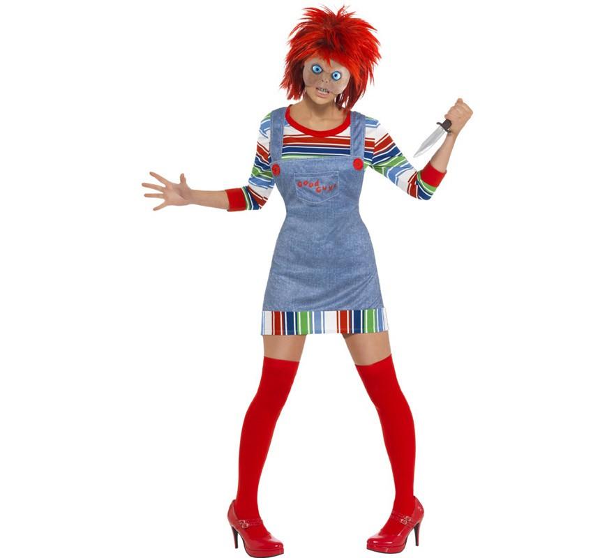 7f9306e76afa8 Disfraz de la Novia de Chucky para mujer