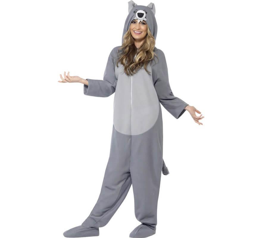 Disfraz de lobo gris para adulto for Disfraz de lobo feroz