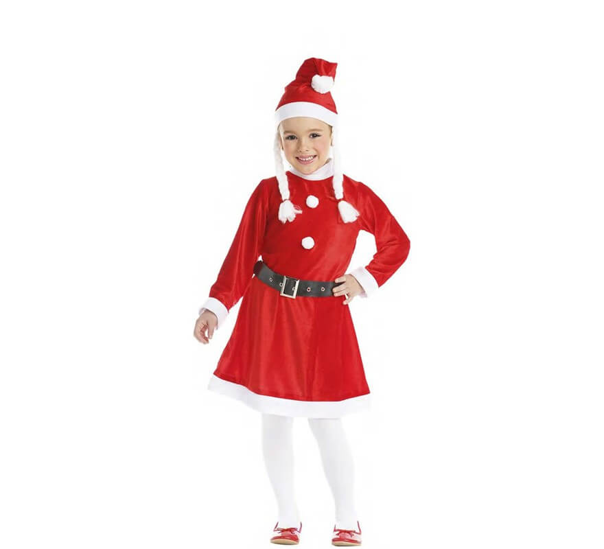 Disfraz de mam noel con trenzas para ni a y beb - Disfraz de santa claus para nino ...