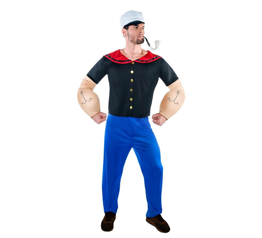 Disfraz de marinero forzudo para hombre - Disfraz de marinero casero ...