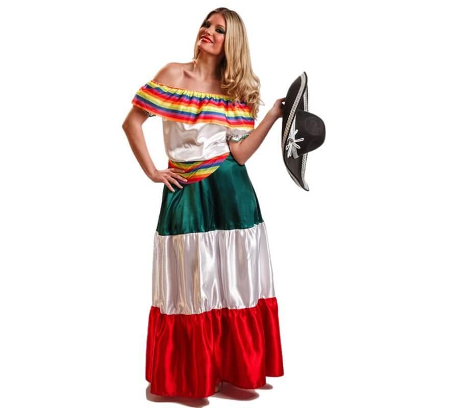 Disfraz De Mexicana Para Mujer - Disfraz-facil-y-rapido-para-mujer