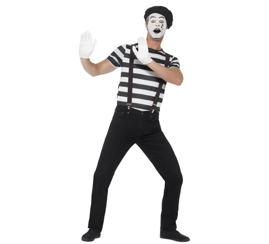 Disfraz de Mimo blanco y negro para hombre 3e42cb987bf