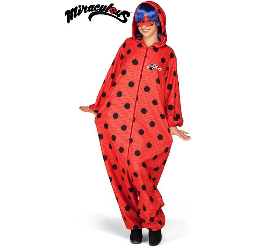 ccd472c11d3a Disfraz de Miraculous Ladybug Pijama con peluca para mujer