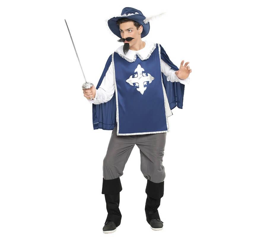 Disfraz de mosquetero azul para hombre - Disfraz casero mosquetero ...