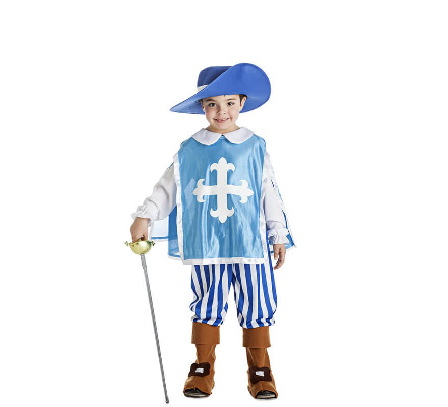 Disfraz de mosquetero azul para ni o - Disfraz casero mosquetero ...