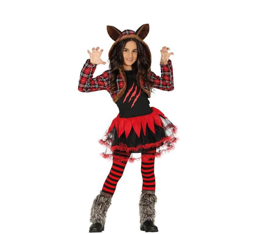 Disfraz de Mujer Lobo para nia