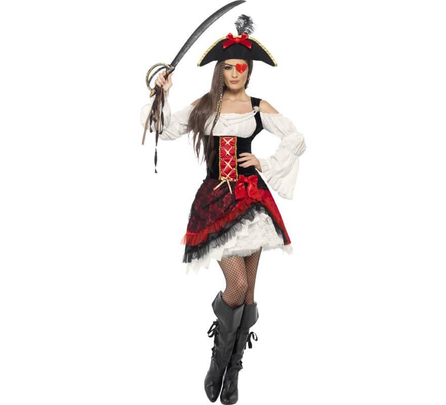 disfraz de pirata chica