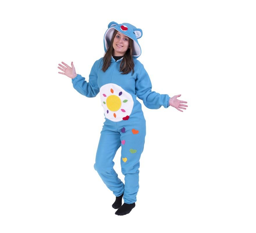 Disfraz de Oso Cariñoso Azul Turquesa para adultos