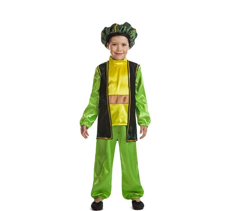 Disfraz de paje navidad verde para ni o - Disfraz para navidad ...