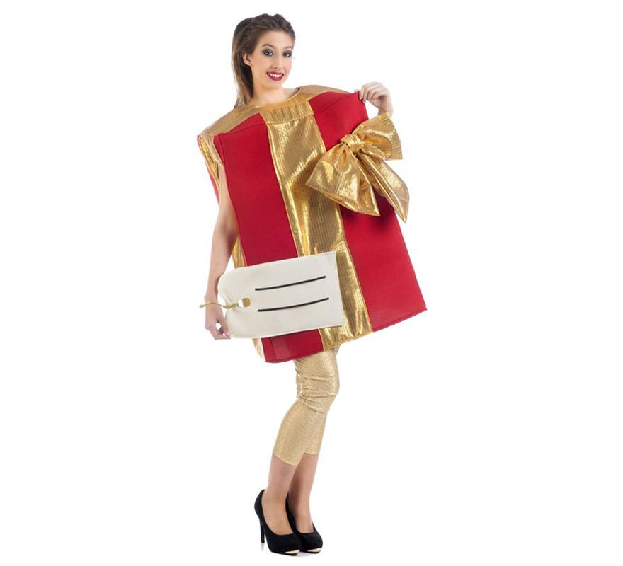 Disfraz de paquete regalo con etiqueta para adultos - Paquetes de regalo ...