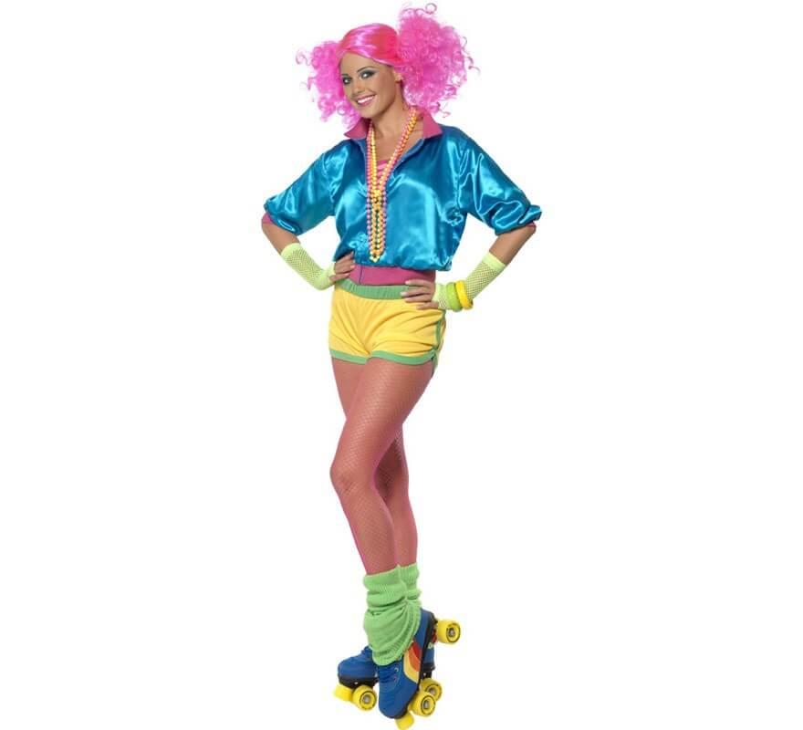 Disfraz de patinadora de los a os 80 para mujer - Deguisement sportif annee 80 ...