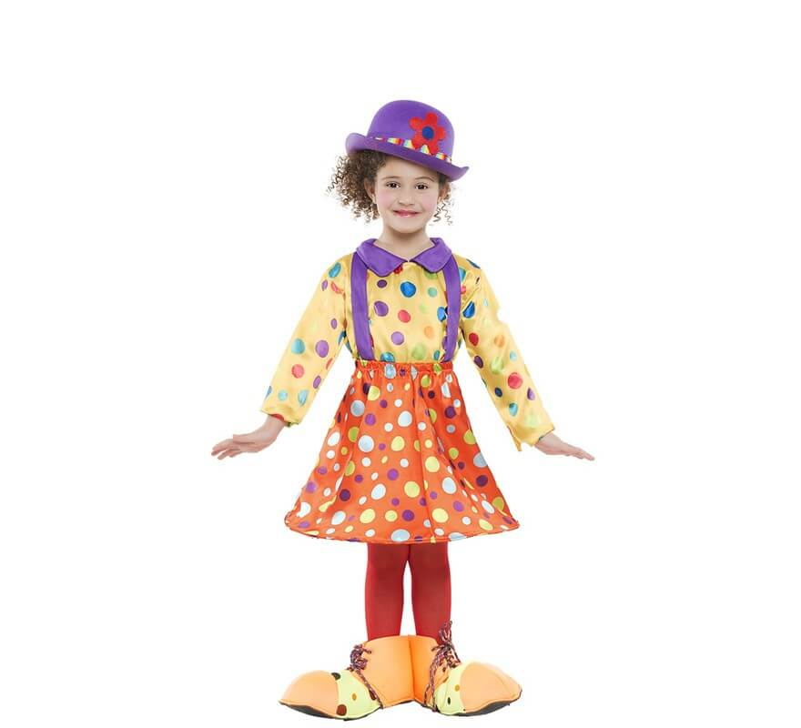 Disfraces de Payasa Circo Arlequines y Bufones para Nia