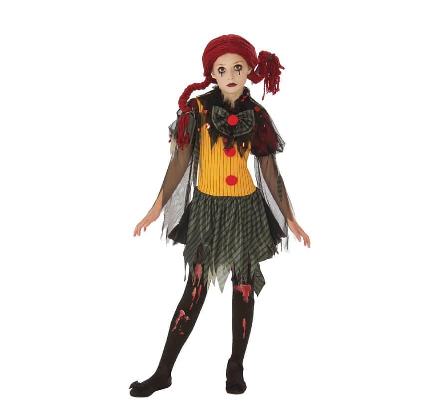 Halloween fantasia Abito macchiato sangue Taglia Unica Donna Collant Spaventoso Zombie Party