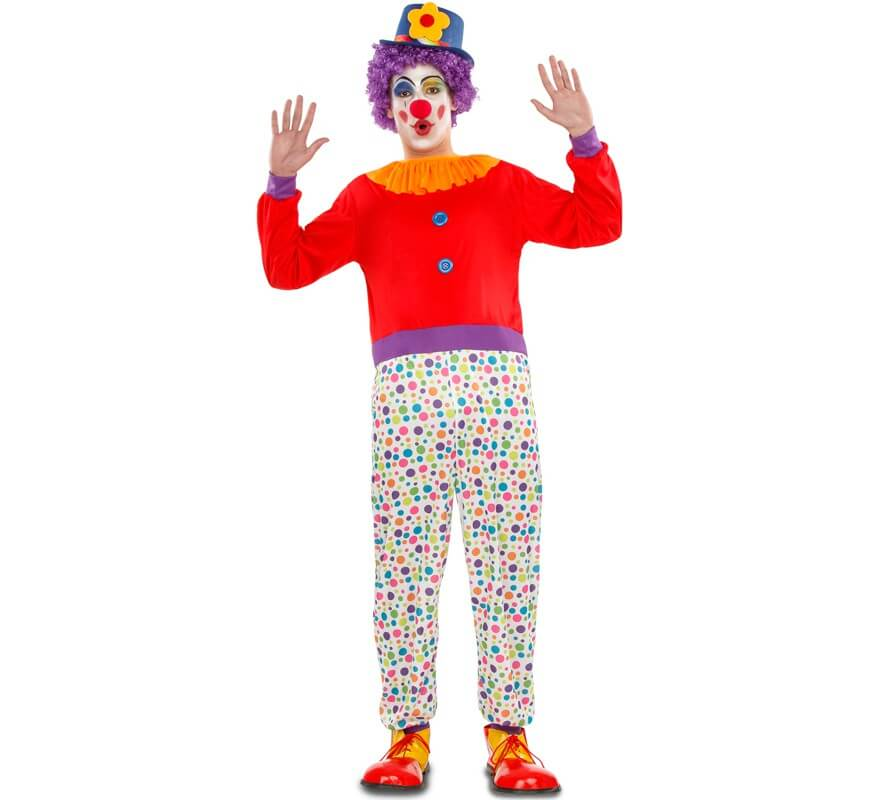 CIRCO CLOWN Pantaloni Da Uomo Clown Costume Accessorio a pois M-XL
