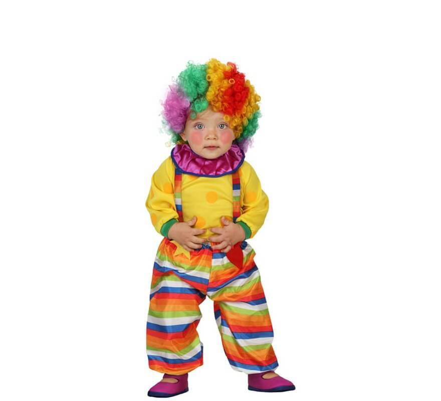 Disfraz de payaso de rayas para beb s - Como hacer fotos a bebes en casa ...