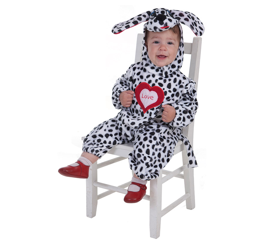Disfraz de Perrito Dálmata corazón para bebé
