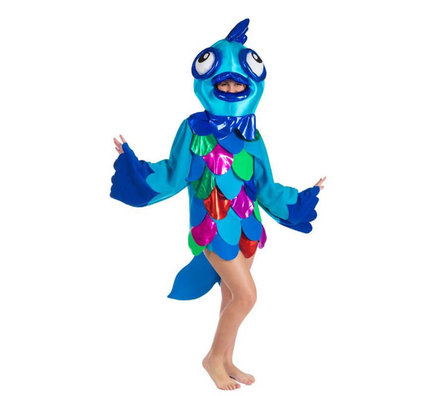 Disfraz de pez azul para adultos - Disfraz de pescado ...