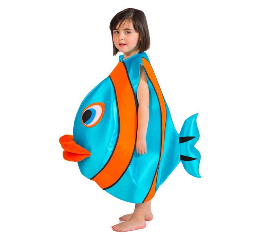 Disfraz de pez azul para ni o - Disfraz de pescado ...