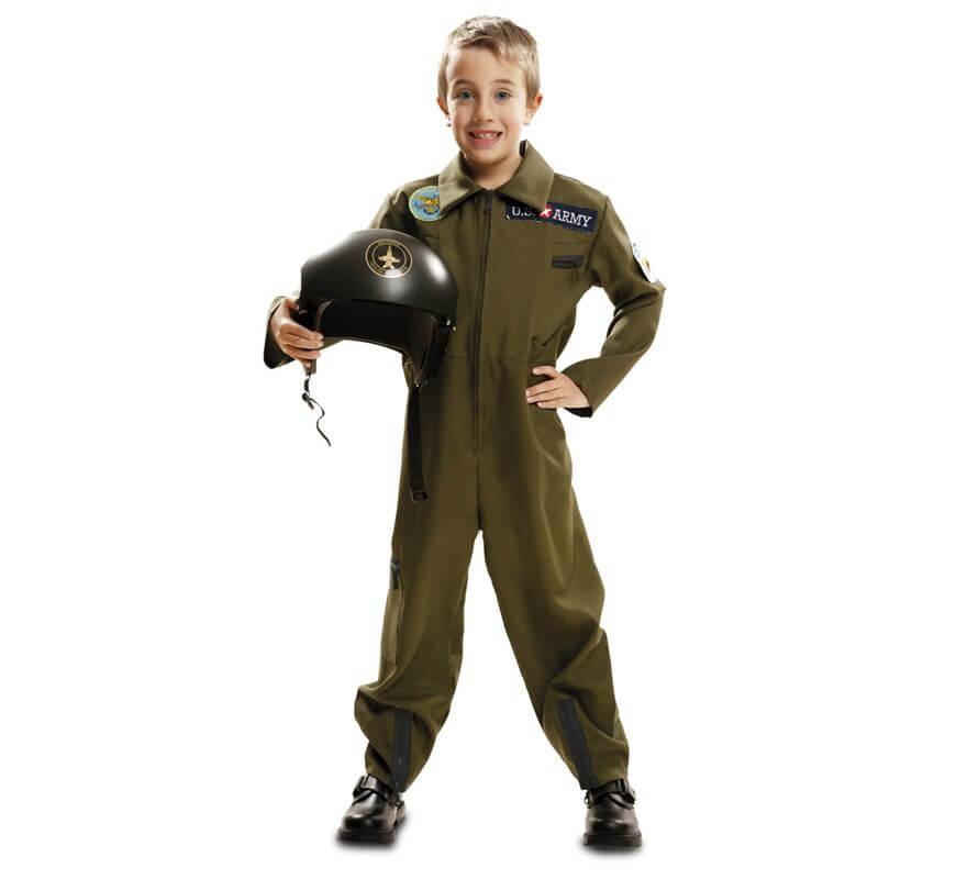Disfraz de Piloto de Avión Top Gun para niño 438b87e844a