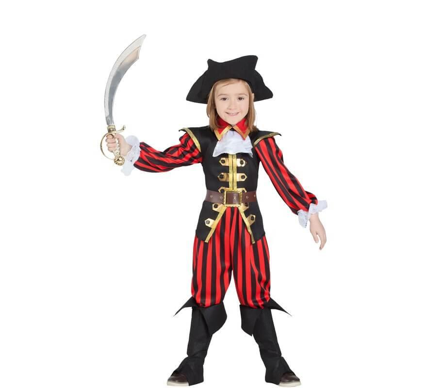 6967d2c33 Disfraz de Pirata a rayas para niño