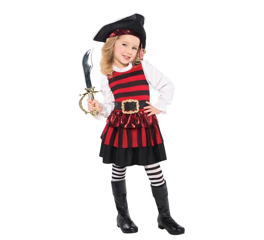 Disfraz de pirata elegante para ni as - Maquillaje pirata nina ...