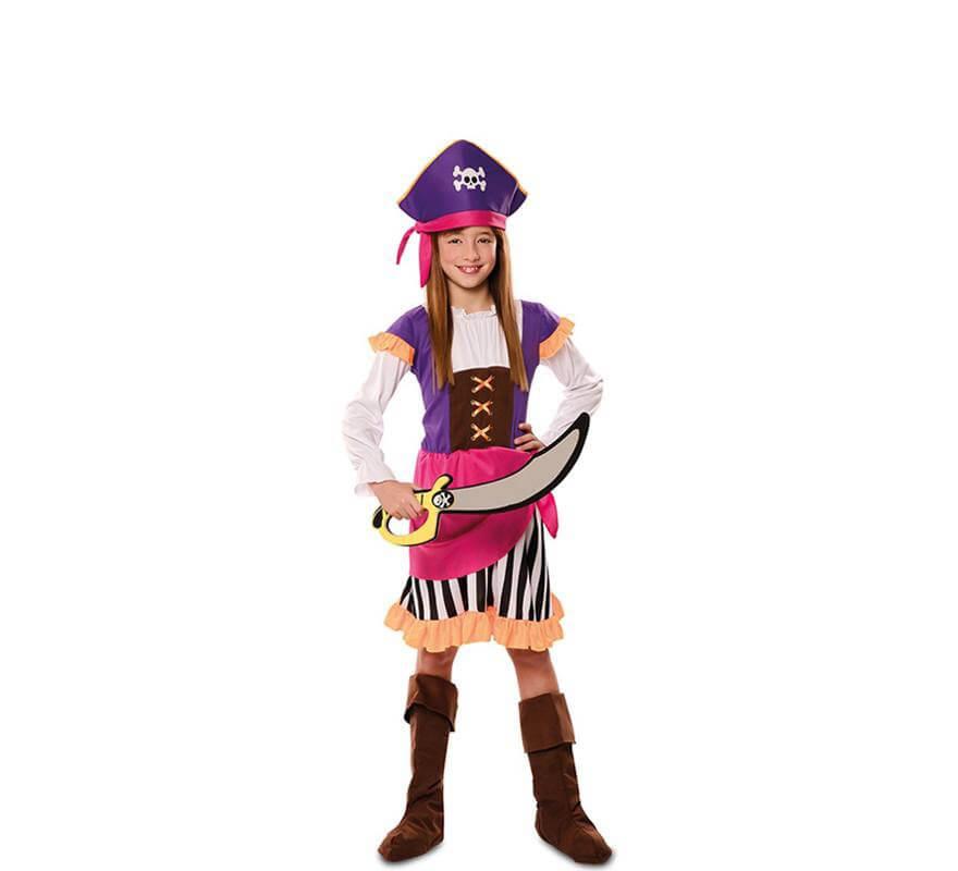 866330f2984 Disfraz de Pirata Morada para niña