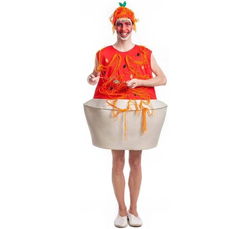 Disfraz de plato de espaguetis para hombre for Plato de espaguetis