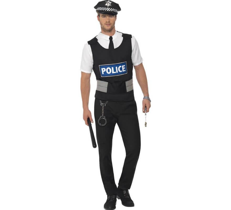 Disfraz de Policía Ingles para adulto