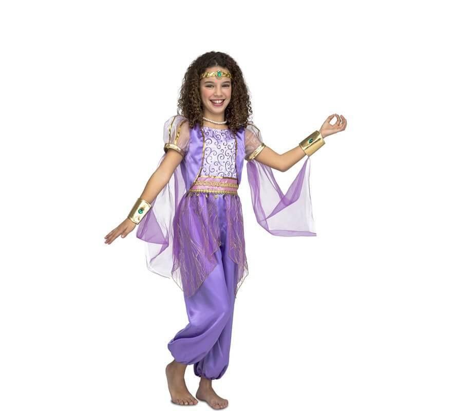 32dc9164e Disfraz de Princesa Árabe Morada para niña
