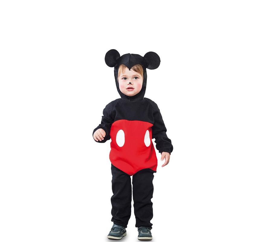 Disfraz de Ratón negro y rojo para niño